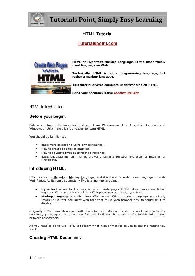 Html - Tutorial