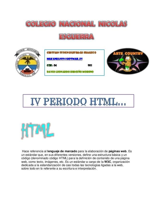 HTML Hace referencia al lenguaje de marcado para la elaboración de páginas web. Es un estándar que, en sus diferentes vers...