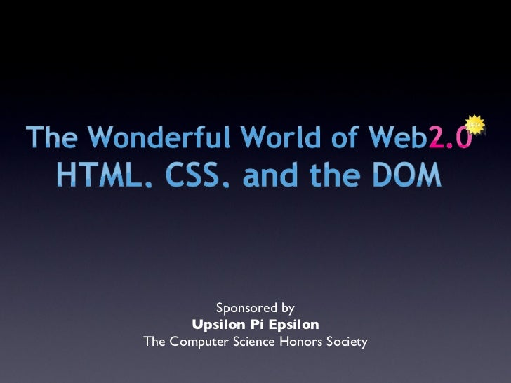 HTML & CSS Workshop Notes