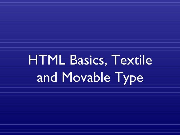 HTML & Textile Training