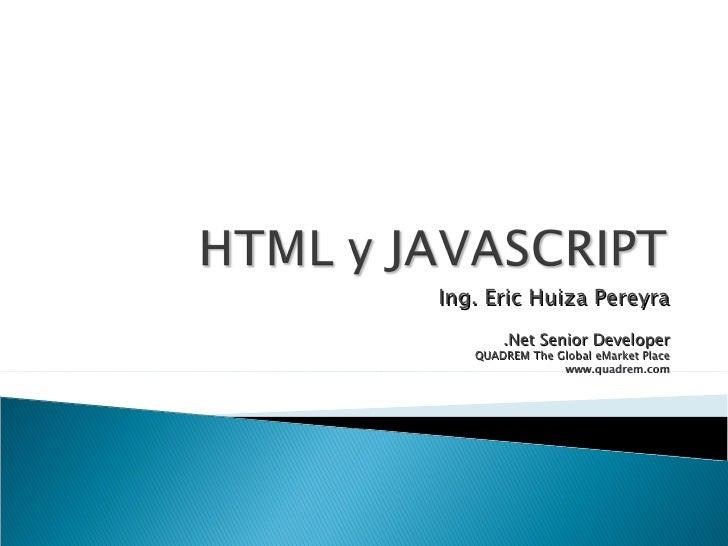 Html Y Javascript