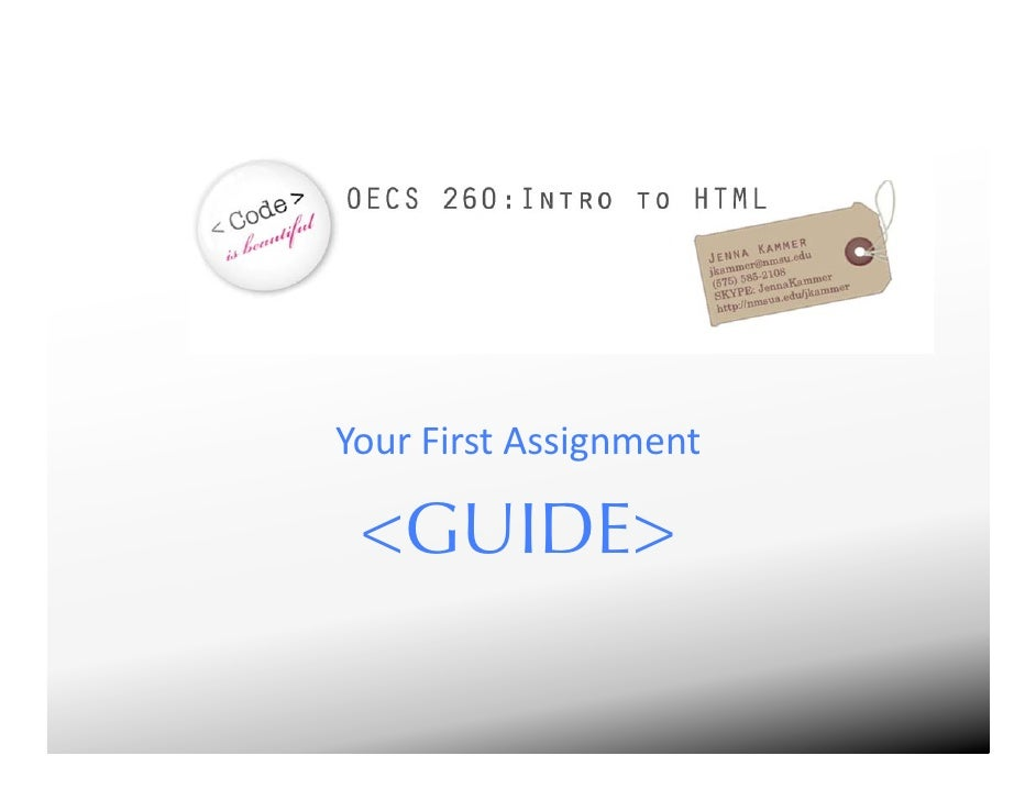 HTML Intro Assignment
