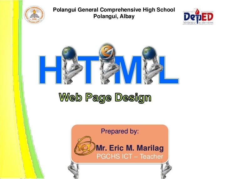 Polangui General Comprehensive High School              Polangui, Albay                Prepared by:              Mr. Eric ...