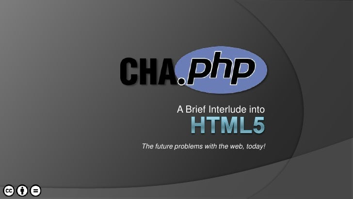 A Brief Interlude into<br />HTML5<br />The future problems with the web, today!<br />