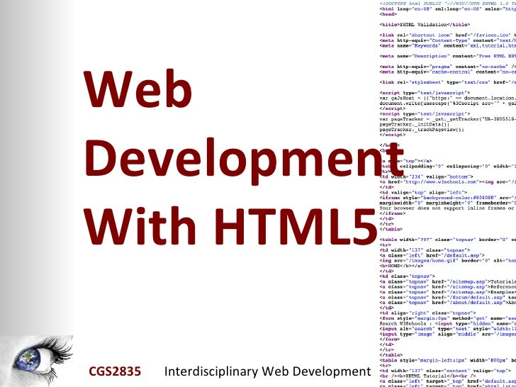 WebDevelopmentWith HTML5CGS2835   Interdisciplinary Web Development