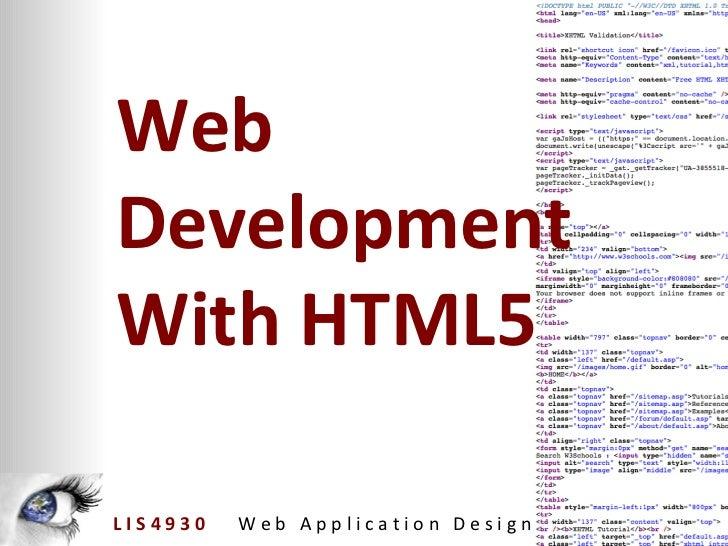 Web Development With HTML5
