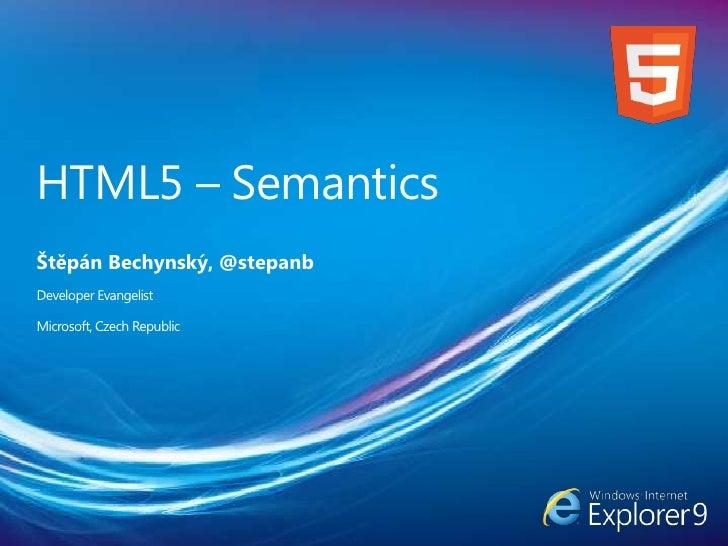 HTML5 (Štěpán Bechynský)