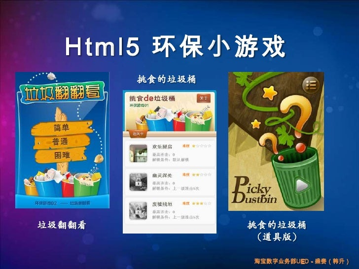 Html5环保小游戏