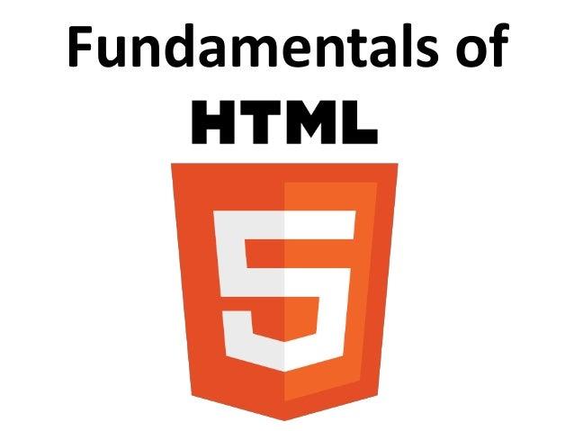 Fundamentals of HTML5