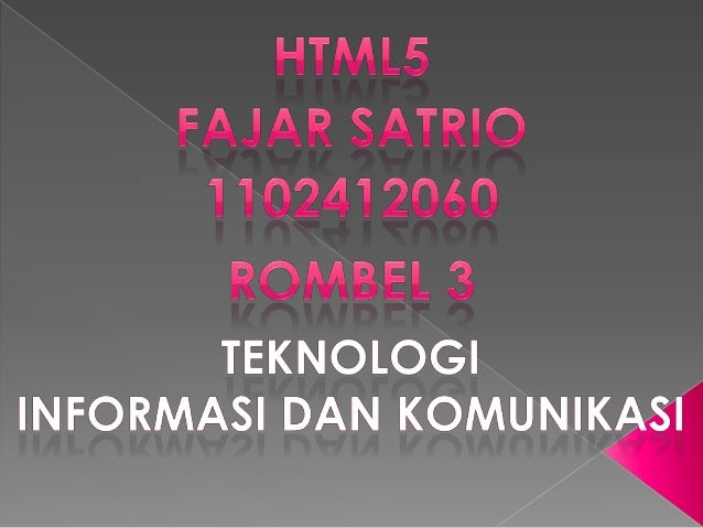 Kelompok Kerja Teknologi Aplikasi Web Hyperteks (Web Hypertext Application Technology Working Group, WHATWG) mulai menjala...