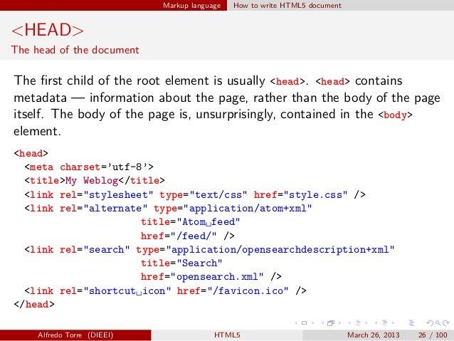 write html