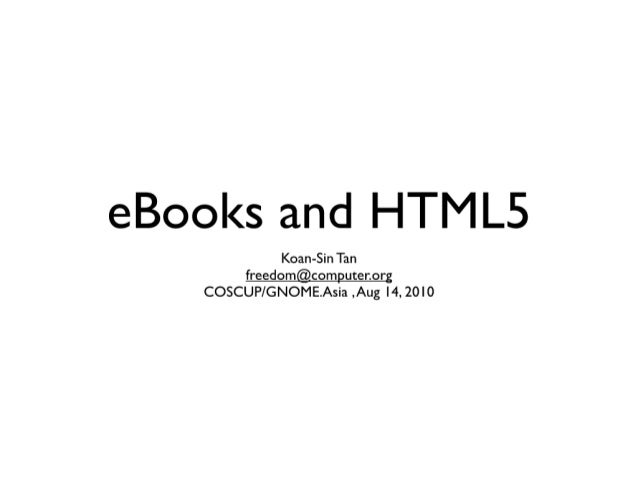 Html5 and-ebook