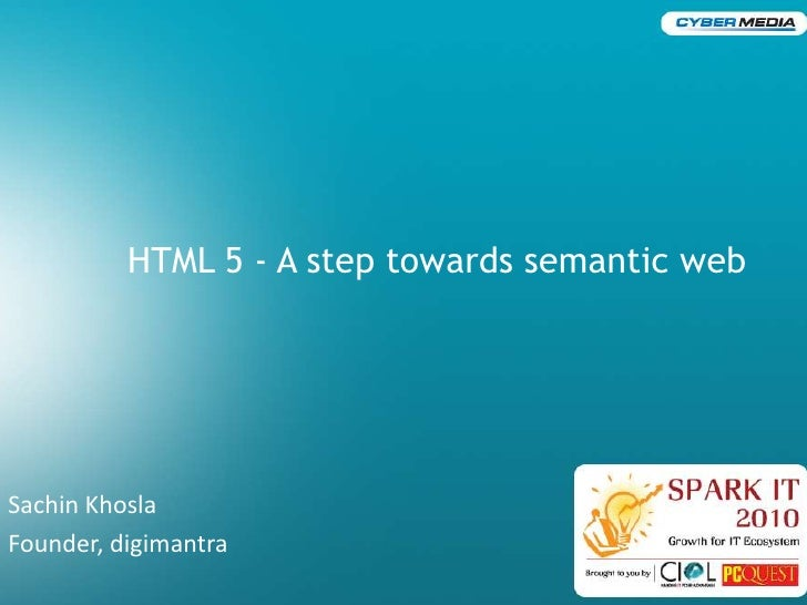 Html 5   a step towards semantic web