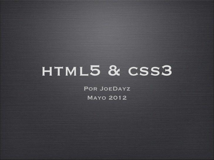 Introducción a HTML5 & CSS3