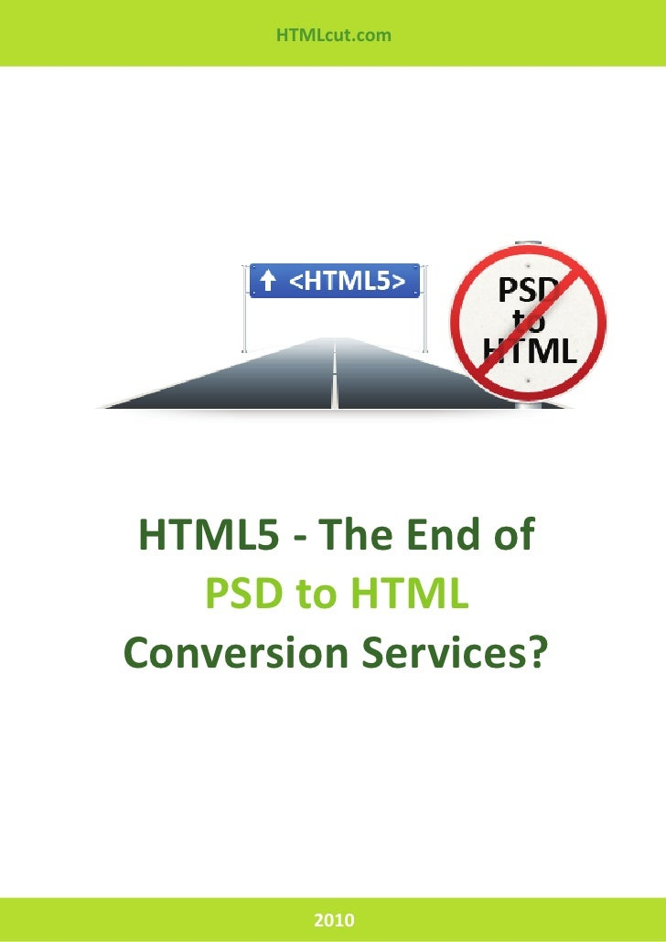 HTML5 - The End of PSD to HTML Conversion Services?