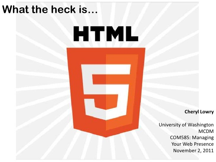 What the heck is... HTML5