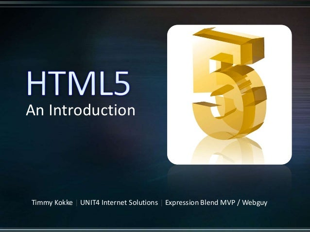 HTML5 - An Introduction