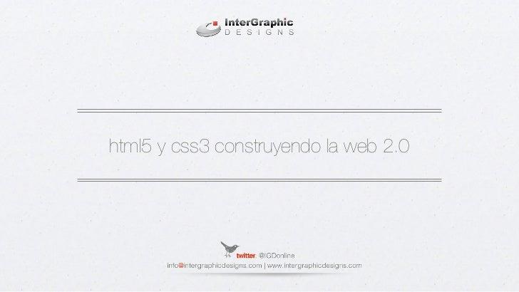 html5 y css3 construyendo la web 2.0
