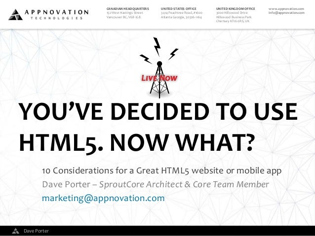 You've Decided to Use HTML5. Now What?
