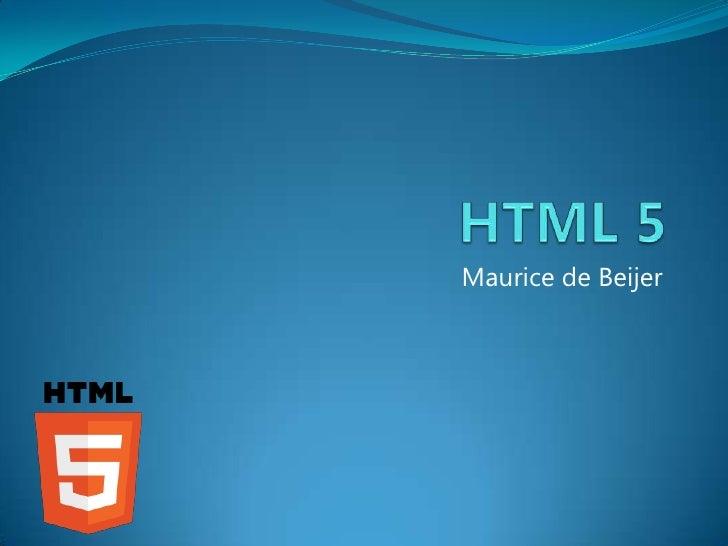 HTML5 (Dutch)