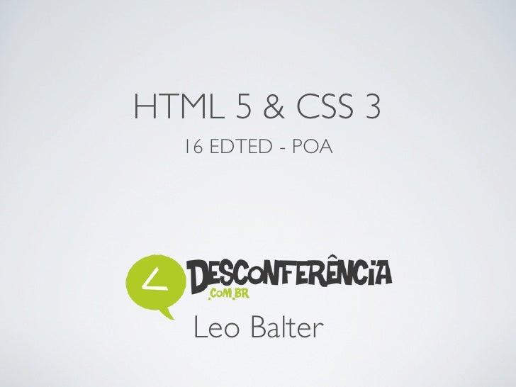 HTML 5 & CSS 3  16 EDTED - POA   Leo Balter