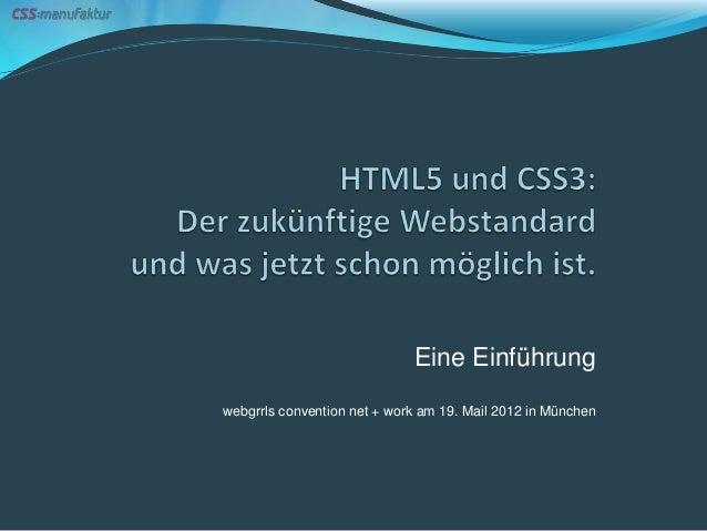 Eine Einführungwebgrrls convention net + work am 19. Mail 2012 in München