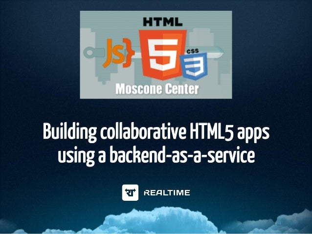 Building collaborative HTML5 apps using a backend-as-a-service