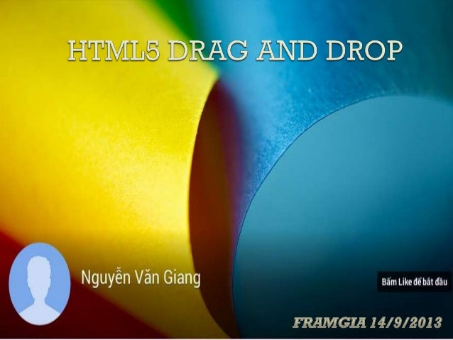 HTML5 DRAG AND DROP