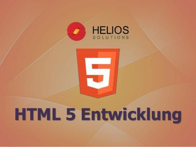 HTML 5 Entwicklung