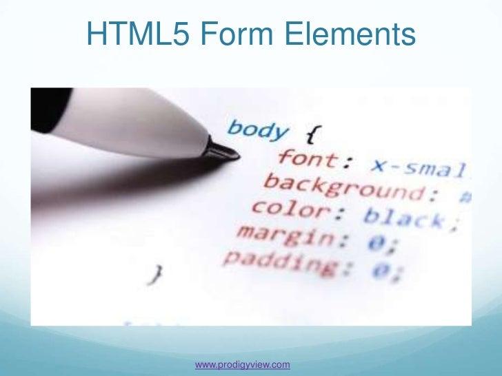 Html5 Form Elements Tutorial