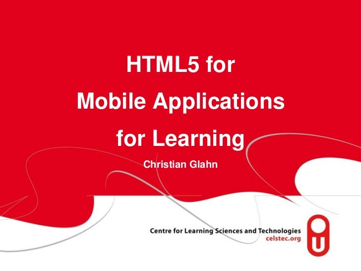 Html5 for mobiles
