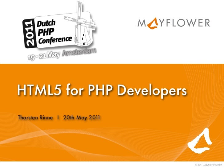 HTML5 for PHP Developers - DPC11