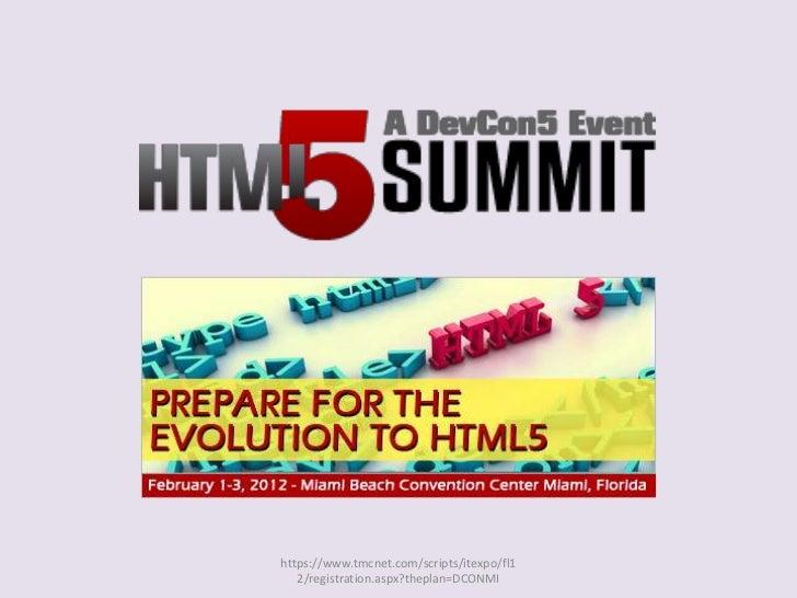 Html5 miami2012