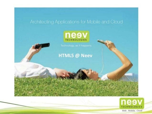 HTML5@Neev
