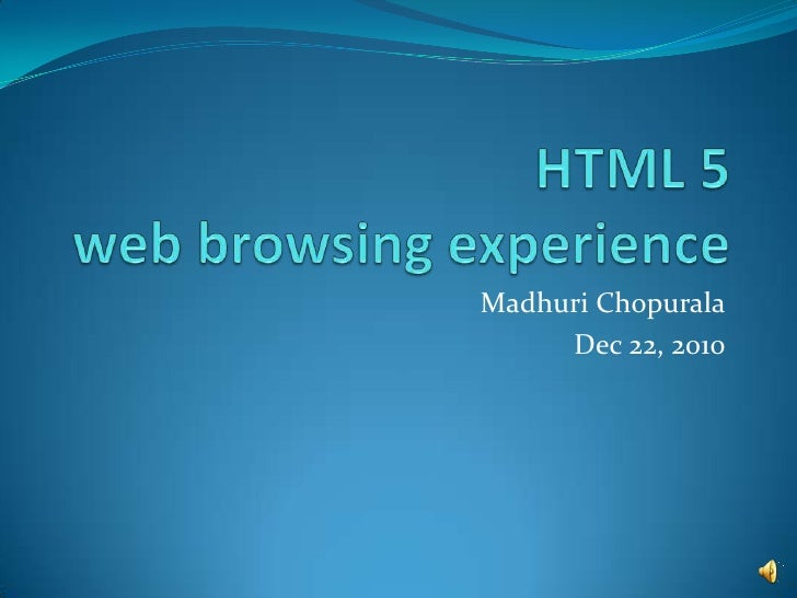 Html5 New Web Browsing Experience