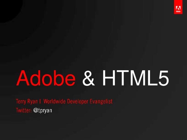 Adobe & HTML5