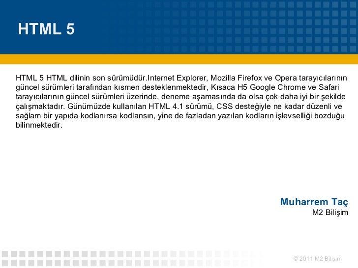 HTML5  ve Phonegap