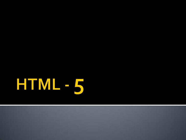 HTML5 will be the new standard for HTML. The previous version of HTML,HTML 4.01, came in 1999. The web has changed a lot s...