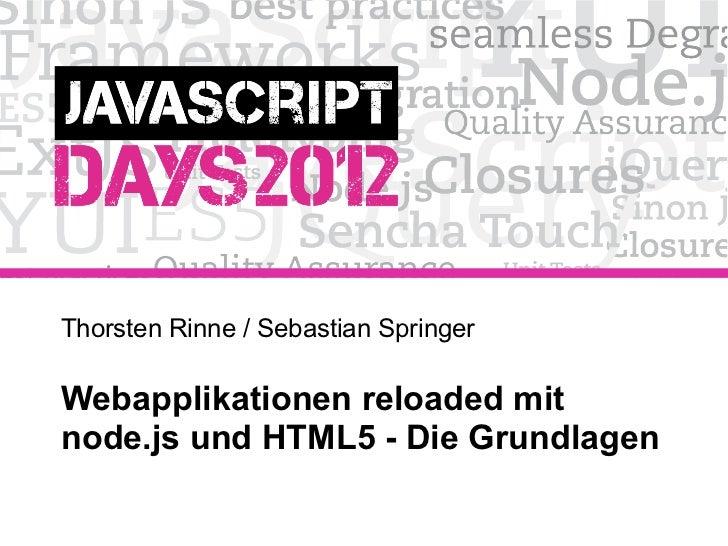 HTML5 und node.js Grundlagen