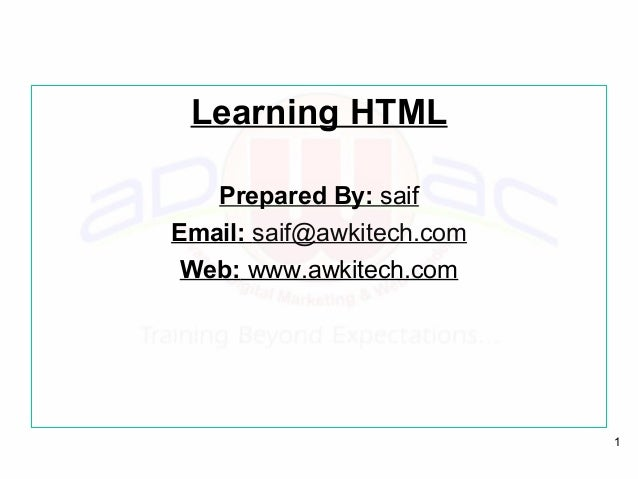 LEARN HTML IN A DAY