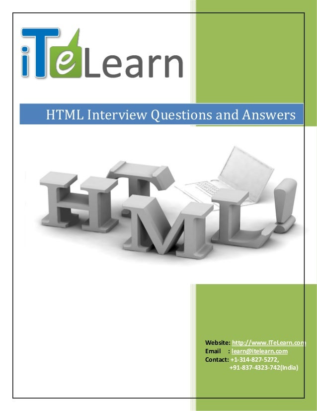 html interview questions and answers pdf