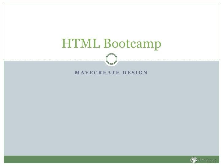 HTML Bootcamp