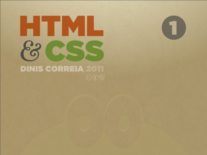 HTML&CSS 1 - Introduction to HTML