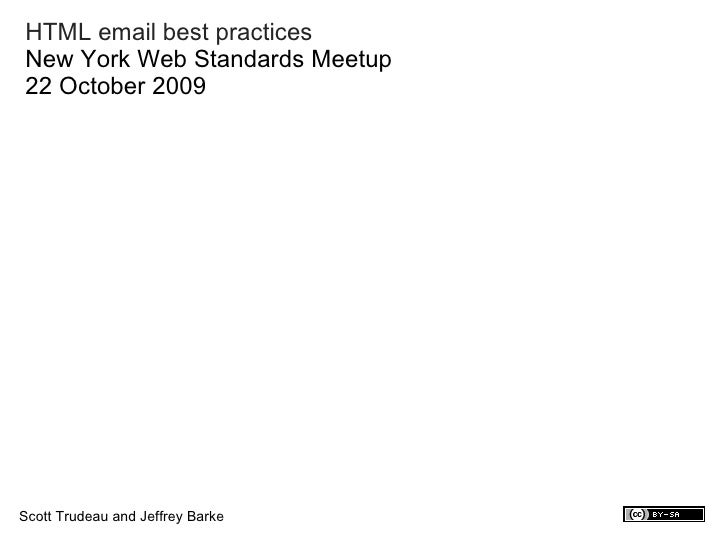 HTML email best practices
