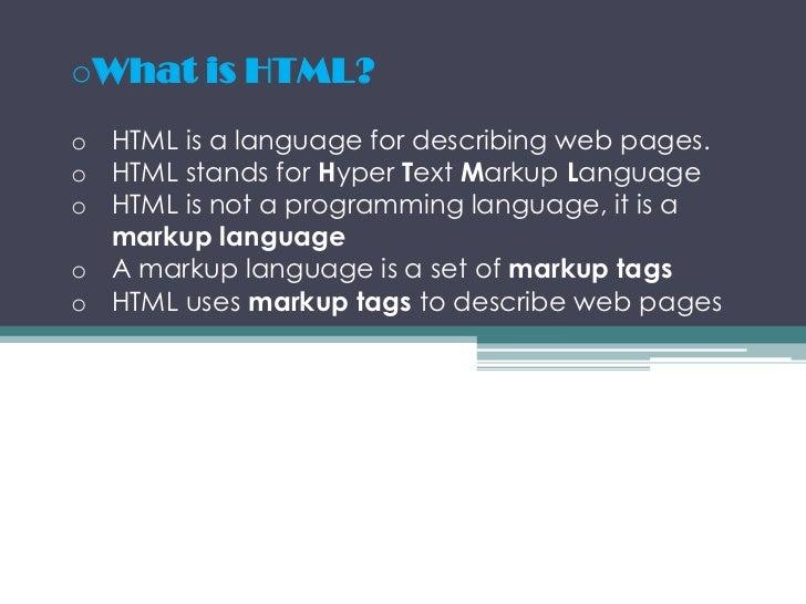 <ul><li>Whatis HTML?