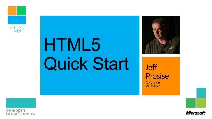 HTML5 Quick Start
