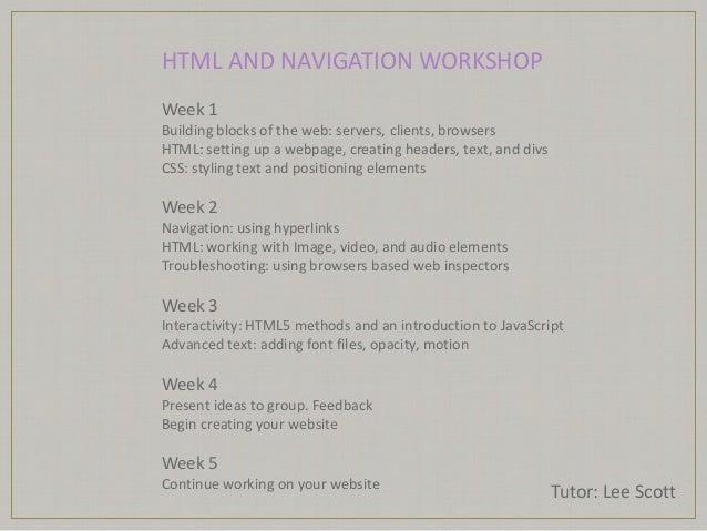 Html workshop 1