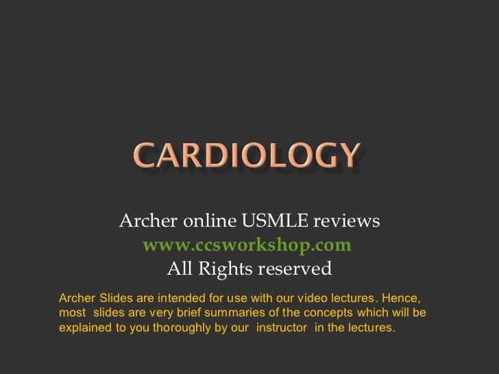 Archer Cardiology - Hypertension concepts - USMLE Step 3