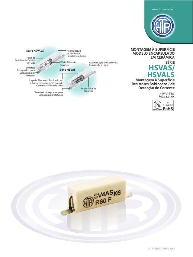 Acomodação de Cerâmica Resistente a Fogo • 4W até 5W • R003 até 16K Pó de Sílica de Quartzo Terminais Adequados para Solda...