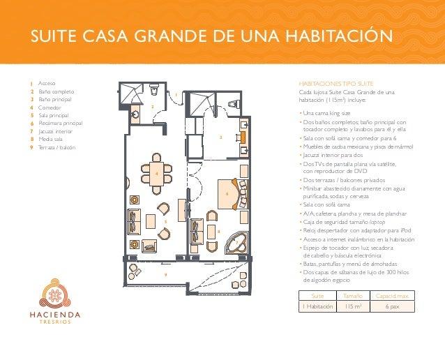 Suite casa grande de UNA habitaciÓn 1 2 3 4 5 6 7 8 9 Acceso Baño completo Baño principal Comedor Sala principal Recámara ...